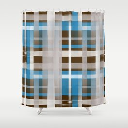 Chocolate Dipped Graphic Plaid Shower Curtain