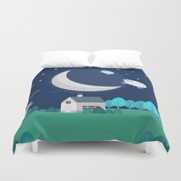 What The Sheep Do While You Sleep Duvet Cover