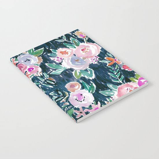 PROFUSION FLORAL - MIDNIGHT Notebook