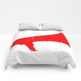 Red Isolated Megaphone Comforters