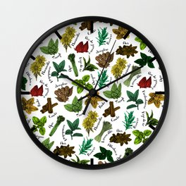 Tea Flavors // assorted teas for your enjoyment Wall Clock