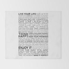 Life Manifesto Throw Blanket