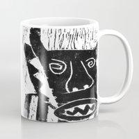 bull Mugs featuring Bull by Hadar Geva