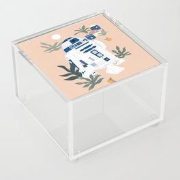 """""""Keep Calm and Droid On"""" by Maggie Stephenson Acrylic Box"""