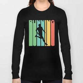 Retro Style Running Runner Long Sleeve T-shirt