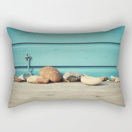 Beach Hut Stones Rectangular Pillow