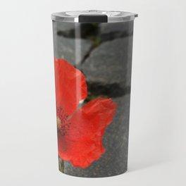 The Poppy in the Cobbles Travel Mug