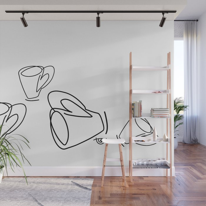 Cuppa Candor [Ivory] Wall Mural