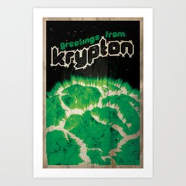 Greetings from Krypton | Defunct Planets Series No. 2 Art Print