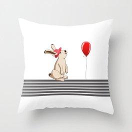 My Rabbit Throw Pillow