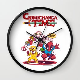 Chimichanga Time Wall Clock