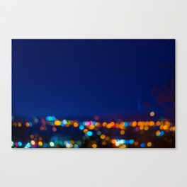 Christmas Night Lights Canvas Print