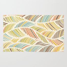 Abstract Waves Pattern Rug