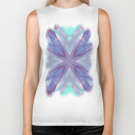 Watercolor Abstract Biker Tank