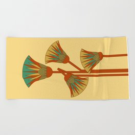 Ancient Egyptian lotus - Colorful Beach Towel