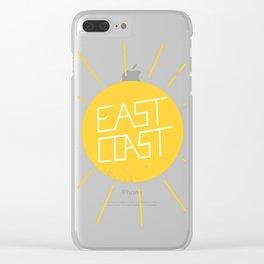 East Coast Sun Clear iPhone Case