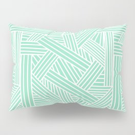 Sketchy Abstract (White & Mint Pattern) Pillow Sham