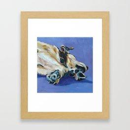 A Dog's Paws Portrait Framed Art Print