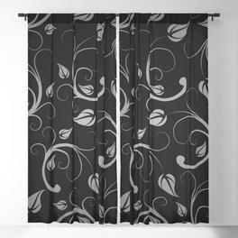 Floral Abstract Vine Art Print Design Blackout Curtain