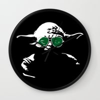 yoda Wall Clocks featuring Yoda by eARTh