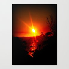 As the Sunsets Canvas Print