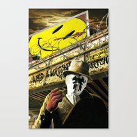 watchmen Canvas Prints featuring Who Watches The Watchmen? by SB Art Productions