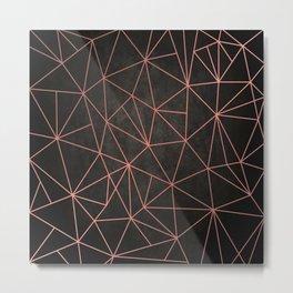 Black Mosaic Metal Print