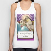 posters Tank Tops featuring Inspirational Posters/Cards by Regina Caeli Art