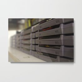 NES Cartridges Metal Print