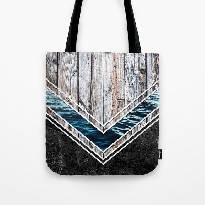 Striped Materials of Nature II Tote Bag