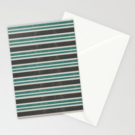 Blue grey retro Stationery Cards
