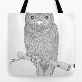 Line Owl Tote Bag