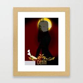 Death   Tarot Card Framed Art Print