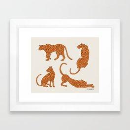 Leopard Block Party Framed Art Print
