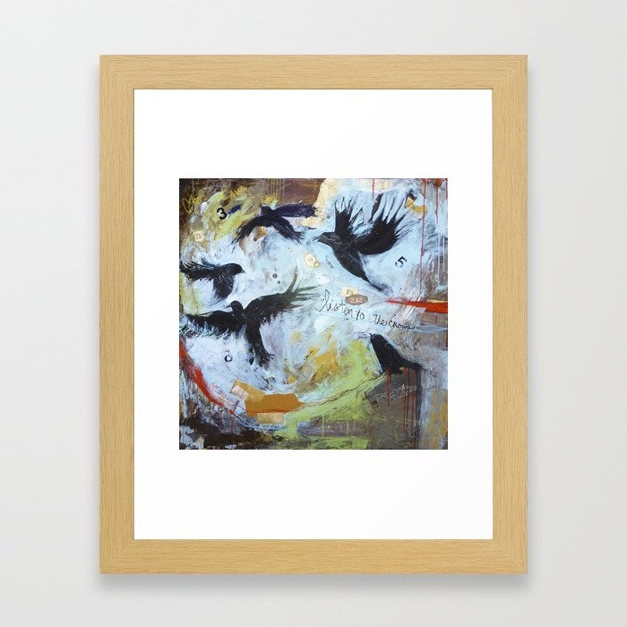 Listen to the Crows #1 Framed Art Print