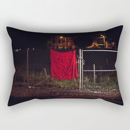 A Good Place To Start, The Unravel, Silk Graffiti by Aubrie Costello Rectangular Pillow