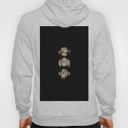 3 wise monkeys Hoody