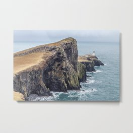 Lighthouse rock ocean Metal Print