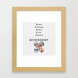 DIVERGENT - ALL FACTIONS Framed Art Print