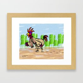 The Little Red Hen Framed Art Print