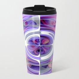 Abstract Morning Glory Fish Eye Collage Travel Mug
