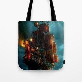 Pirates on sea Tote Bag