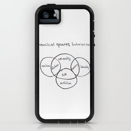 Musical genre intersections iPhone Case