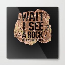 Wait I See A Rock Metal Print