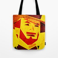 clint barton Tote Bags featuring Clint by Triplea