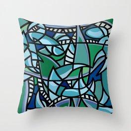 Bushel of Crabs Throw Pillow