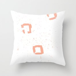 abstract squares Throw Pillow