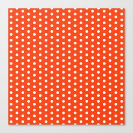 Florida fan university gators orange and blue college sports football dots pattern Canvas Print