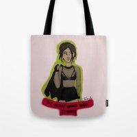 selena gomez Tote Bags featuring Gomez by Melike