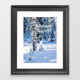 Holiday Happy Smile Framed Art Print